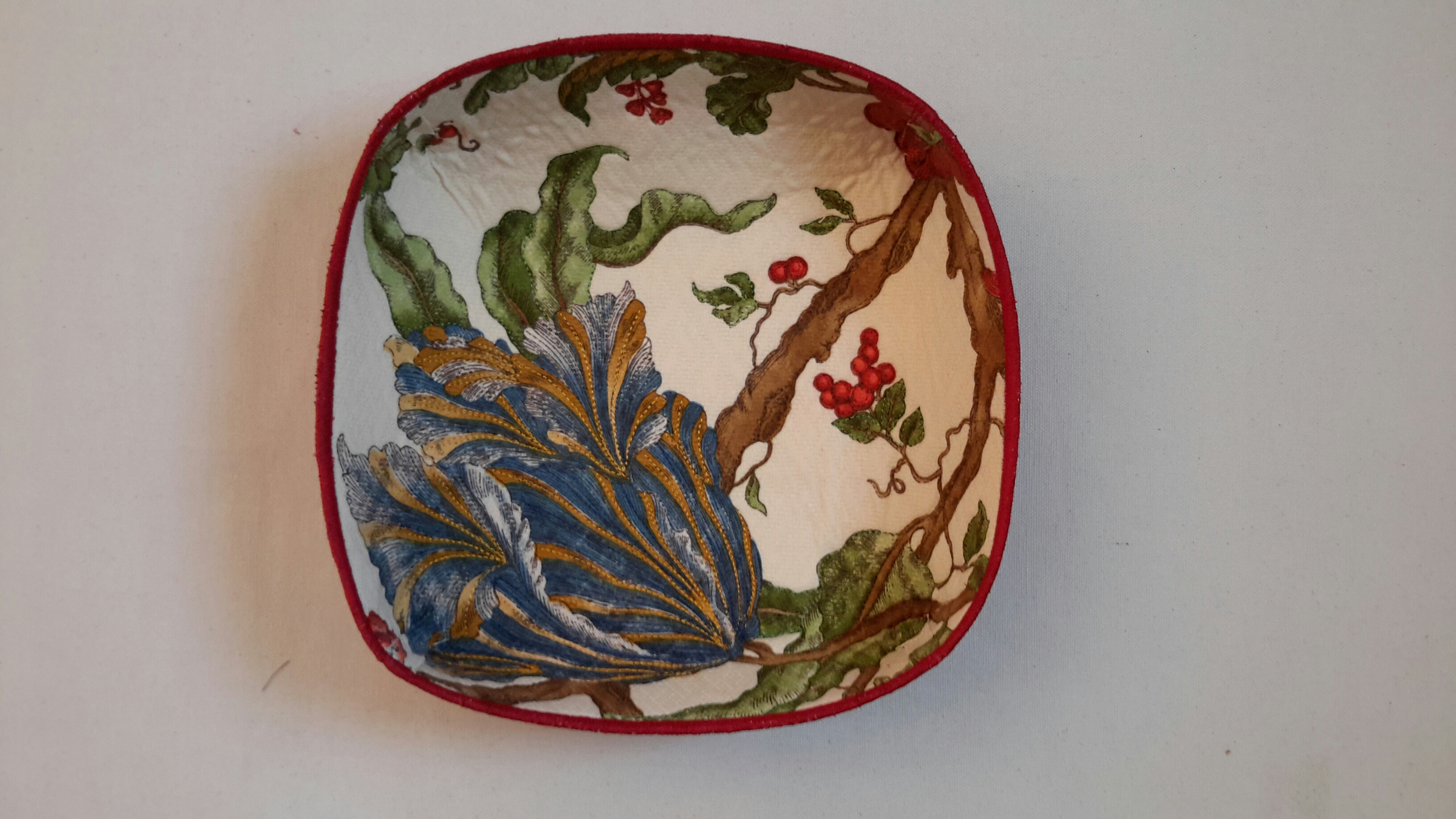 Floral Quilted Bowl