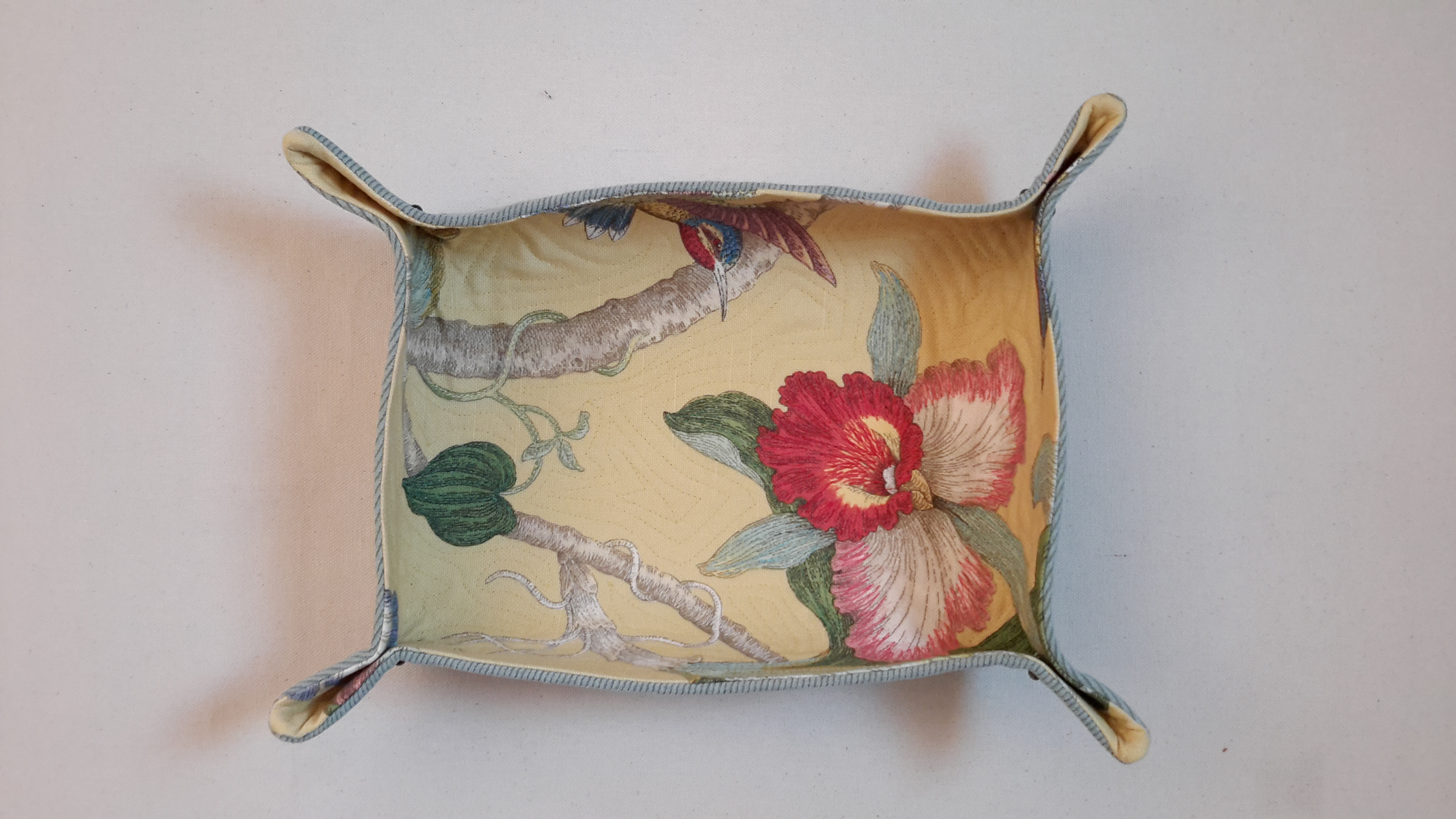Floral Rectangular Quilted Bowl