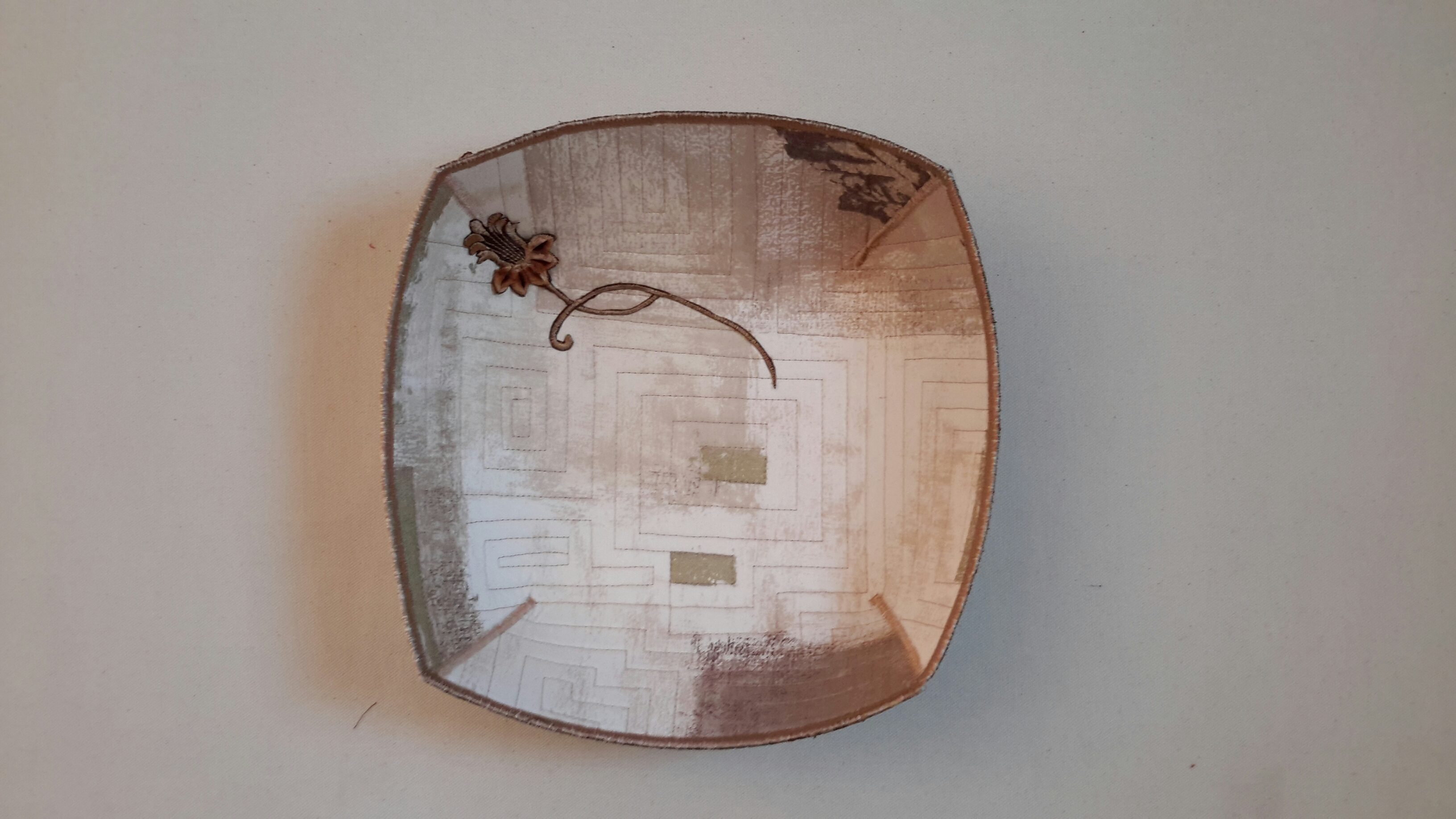 Geometric Quilted Bowl