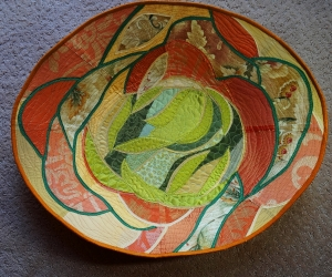 Abstract Flower oval bowl
